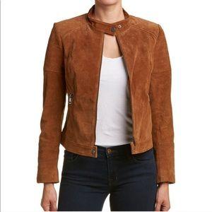 Bagatelle leather suede moto jacket